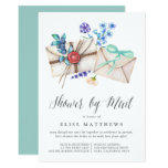 Floral Post Virtual Baby or Bridal Shower By Mail Invitation