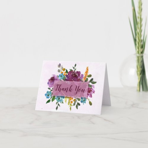 Floral Thank You Notes - Wedding Thank You Cards