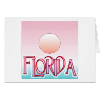 Florida Airbrush Sunset Greeting Cards