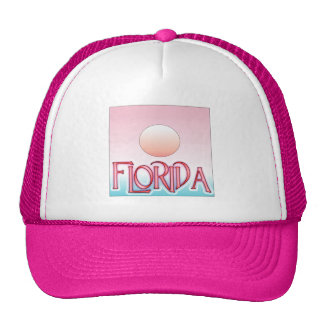 Florida Airbrush Sunset Mesh Hats