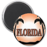 Florida Airbrushed Look Orange Sunset Palm Trees magnets
