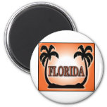 Florida Airbrushed Look Orange Sunset Palm Trees magnets