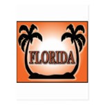 Florida Airbrushed Look Orange Sunset Palm Trees postcards