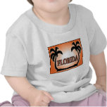 Florida Airbrushed Look Orange Sunset Palm Trees t-shirts