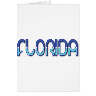 Florida - Blue Gradient Card