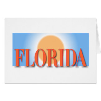 Florida Blue & Orange Sunset Card