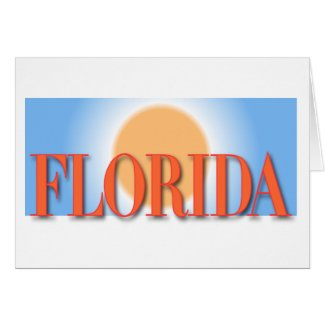Florida Blue & Orange Sunset Cards