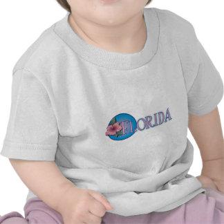 Florida Hibiscus Pink & Blue T Shirt