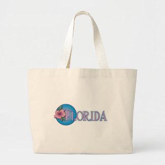 Florida Hibiscus Pink & Blue Tote Bag