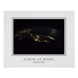 Florida Lights From Space print