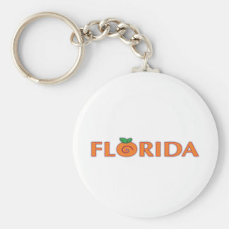 FLORIDA Orange Text Keychains