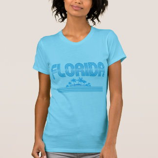 Florida Retro Neon Palm Trees AQUA Tees
