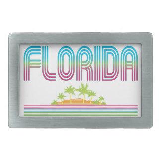 FLORIDA Retro Neon Palm Trees Belt Buckle