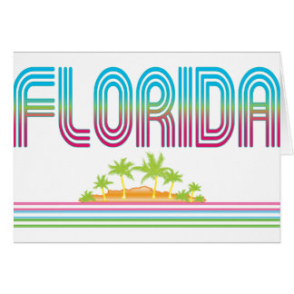 FLORIDA Retro Neon Palm Trees Card