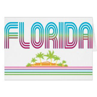 FLORIDA Retro Neon Palm Trees Card