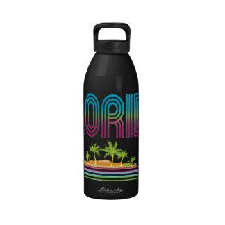 FLORIDA Retro Neon Palm Trees Drinking Bottles