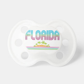FLORIDA Retro Neon Palm Trees Pacifier