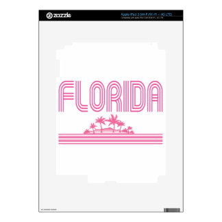 Florida Retro Neon Palm Trees Pink iPad 3 Decals