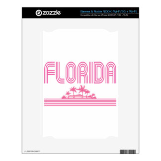 Florida Retro Neon Palm Trees Pink NOOK Skin