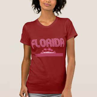 Florida Retro Neon Palm Trees Pink Shirt