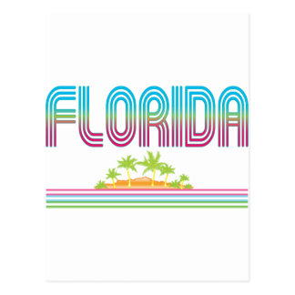 FLORIDA Retro Neon Palm Trees Postcard