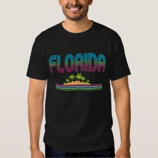 FLORIDA Retro Neon Palm Trees Shirt
