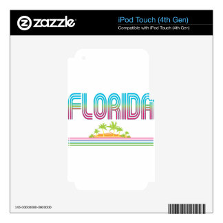 FLORIDA Retro Neon Palm Trees Skin For iPod Touch 4G