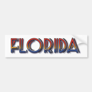 Florida Seaside - Rainbow Text Bumper Stickers