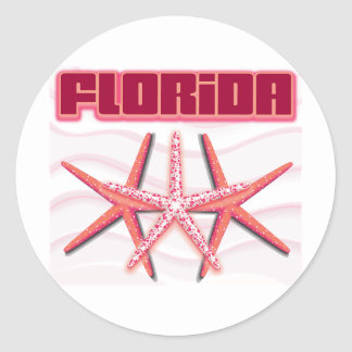 Florida Starfish Round Stickers