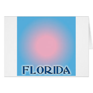 Florida Sunset Pink To Blue Greeting Card
