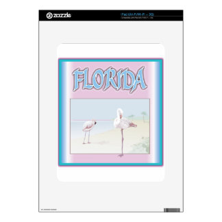 Florida White Flamingos iPad Skins