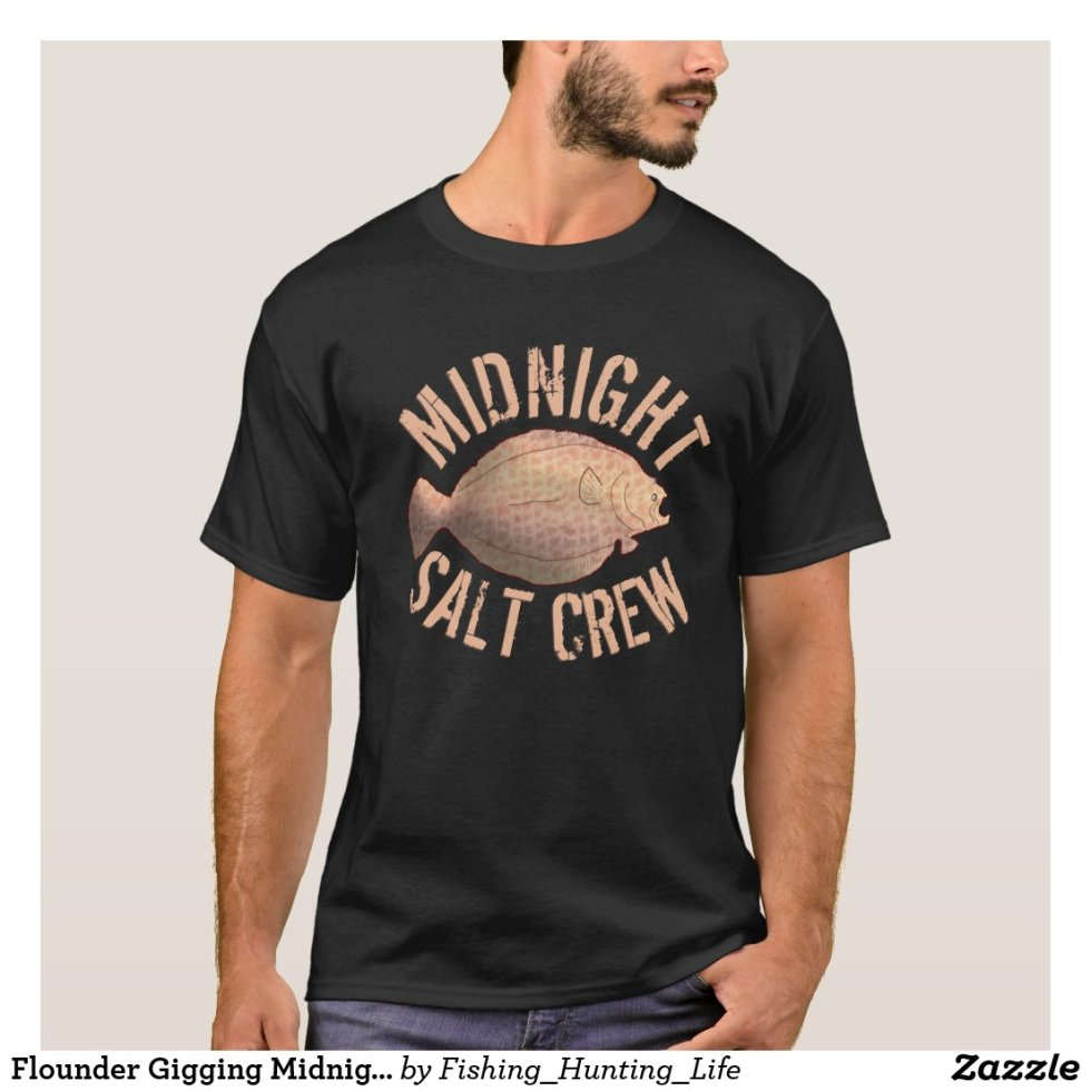 Flounder Gigging Midnight Salt Crew Fishing T-Shirt