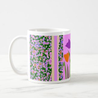 Flower Border by CricketDiane mug