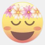 ❤️ Flower Crown Happy Calm Emoji Face Sticker