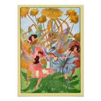 Flower Fairy Play Poster Print print