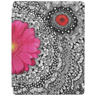 Flower Zentangle iPad Cover