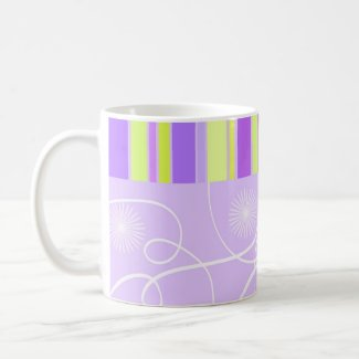Flowers and stripes - Mug