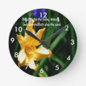 Flowers are the nourishment of the soul wall clocks