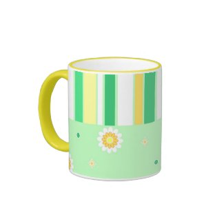 Flowers stripes - Mug