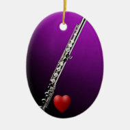 Flute with Heart Ornament