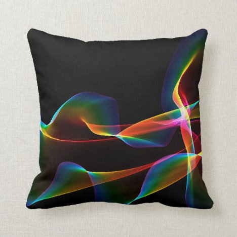 Fluted Cosmic Rainbow, Abstract Winds Throw Pillow