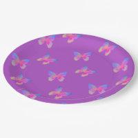 Flutter-Bye(s) pattern paper plate