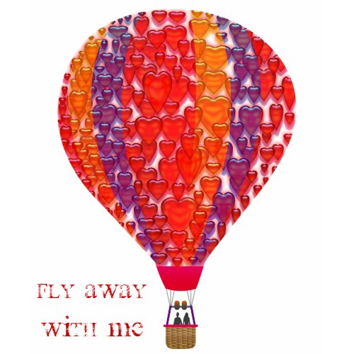 Fly away with me balloon shirt