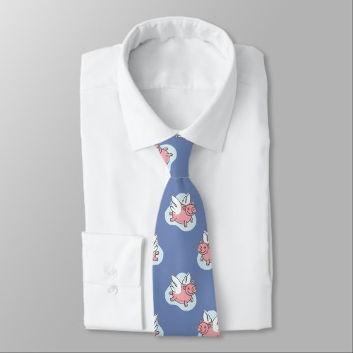 Flying Pigs Chinese New Year 2019 Choose Color Tie