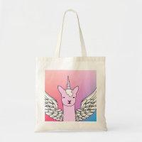 Fly'n Unicorn Drama Llama girls tote bag