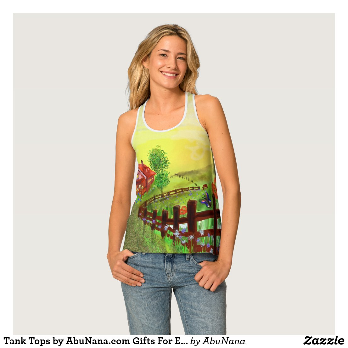 Folk Art Country Hope for Better Days All-Over Top