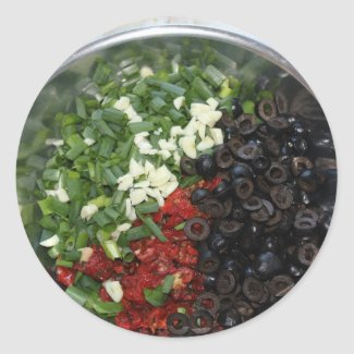 Food Tricolore Round Stickers
