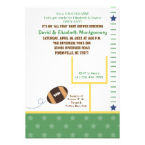 football and goalpost baby shower invite
