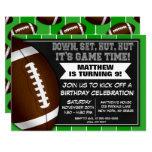 Football Birthday Party Invitation Football Fans