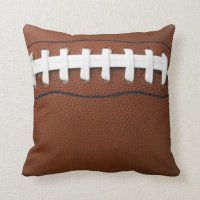 Football Design Throw Pillow | Zazzle